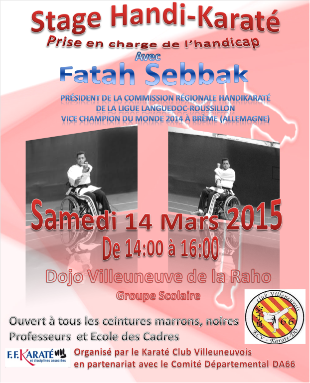 Stage handi karate Villeneuve